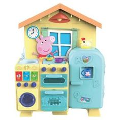 HTI Peppa Pig Kitchen Playset - 1680948 for sale online Little Girl Toys, Toys For Girls, Peppa Pig House, Pig Kitchen, Minnie Mouse Toys, Accessoires Barbie, Frozen Birthday Party, Toy Sale