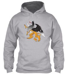 Awesom Griffin Hoodie Sport Grey Sweatshirt Front