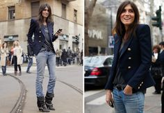 THE FASHION PACK: EMMANUELLE ALT | My Daily Style en stylelovely.com