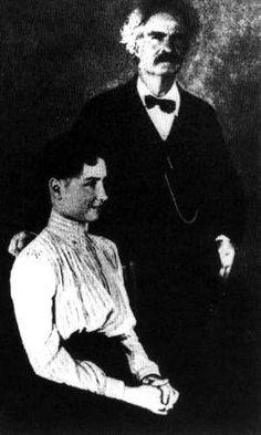 Helen Keller and Mark Twain, c. 1899.