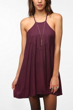 Ecote Soft Woven Janis Halter Dress  #UrbanOutfitters