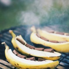 Talk about a sweet treat! Grilled Banana Boats
