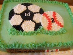 Soccer/baseball cake