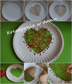 Projects For Kids, Diy For Kids, Crafts For Kids, Arts And Crafts, Shell Crafts, Origami, Holiday Decor, Tableware, Heart