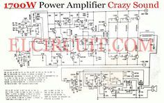 Circuit 800 Watt power amplifier OCL works with class AB, which generated power efficiency can reach 85 percent. The power amplifier circuit including amplifiers that have high output power Diy Amplifier, Car Audio Amplifier, Subwoofer Speaker, Class D Amplifier, Power Supply Circuit, Circuit Diagram, Guitar Amp, Electronic Circuit, Electronic Schematics