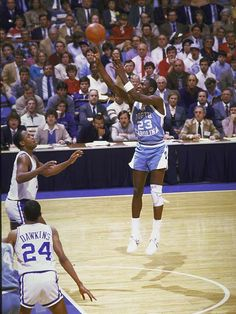 Michael Jordan Jump with Converse NCAA University League Michael Jordan Unc, Michael Jordan North Carolina, Michael Jordan Pictures, Michael Jordan Basketball, Jeffrey Jordan, Basketball Jones, Xavier Basketball, College Basketball, Basketball Players