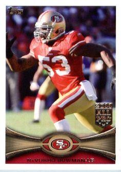 2012 Topps Football Card #411 NaVorro Bowman - San Francisco 49ers (NFL Trading Card) by Topps. $1.97. 2012 Topps Football Card #411 NaVorro Bowman - San Francisco 49ers (NFL Trading Card)