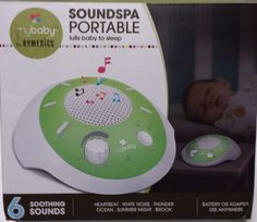 NEW HoMedics SoundSpa Mybaby Portable Sound Machine for Baby 6 Sounds and Timer #MYBABYHoMedics
