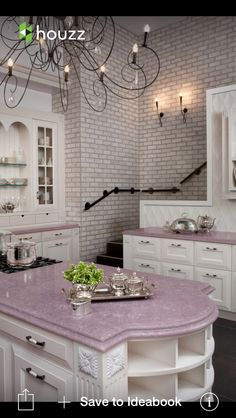 Quart countertop - pink/lavender -- pretty!!