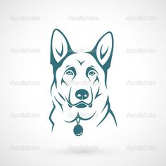 German Shepherd dog — Stock Vector © I.Petrovic #47419393