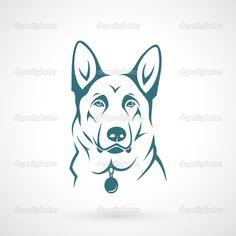 German Shepherd dog — Stock Vector © I.Petrovic #47419393