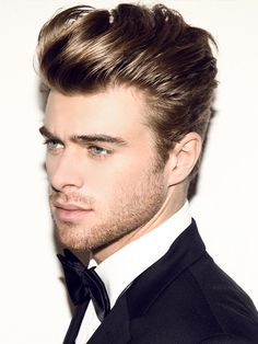 Elegant Quiff Hairstyle See the whole article at >>> http://haircutinspiration.com/top-business-hairstyles-for-men/