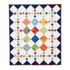 Diamond Patch Quilt Pattern from Clothilde--good for scraps