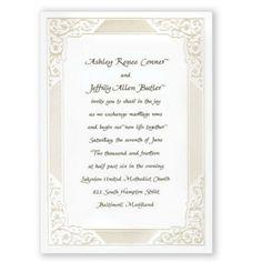 Bridal Elegance Wedding Invitations