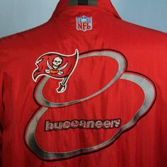 Tampa Bay Buccaneers NFL Logo Athletic Authentic Pro Line Embroidered Jacket XL #LogoAthletic #Windbreaker