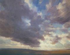 Sky Painting in oil, Sky Study in March, Ken Bushe