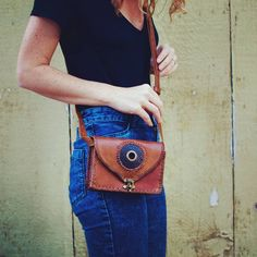 Over the shoulder leather crossbody bag. Boho chic and effortlessly cool accessories all handmade and one of a kind. Ethical fashion for the creative bohemian.