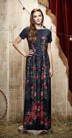Vestido Longo Camélia | Carola e sua Cartola | Antix Store