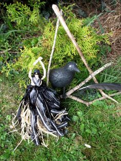 Handmade  Positively Pagan Crow Goddess The Morrigan . corn