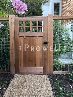 Wood Fence Styles Ideas [Best of Wood Fence Designs] Wood Fence Gates, Wooden Garden Gate, Garden Gates And Fencing, Wooden Gates, Wooden Gate Designs, Fence Gate Design, Fence Garden, Unique Garden, Diy Garden