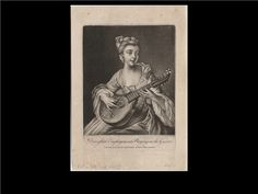 Domestic Employment Playing On the Guitar 1764(Lewis Walpole Library)