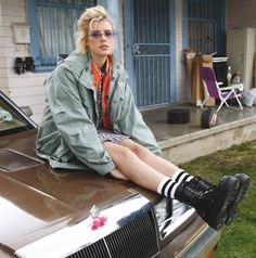 Agyness Deyn in 1490 Boots and Parka coat she designed with Dr. Martens. http://drmartens.com/