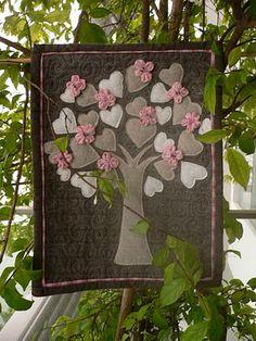 Dit soort quilts vind ik mooier, dan de traditionele lapjes aan elkaar, met alle respect voor de mensen, die ze maken!