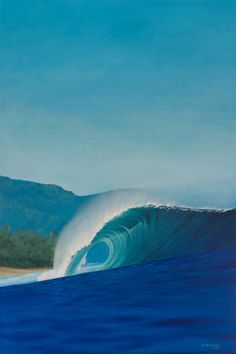 An astonishing painting of the Banzai Pipeline by Scott Denholm