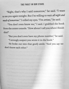 "The Fault In Our Stars~~~ Or, better known as, ""The Tears In My Eyes"" put there by John Green. Star Quotes, Movie Quotes, Book Quotes, John Green Quotes, John Green Books, Love Book, This Book, Augustus Waters, Looking For Alaska"
