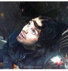 Sebastian Stan (Bucky Barnes) in Captain America: Civil War. Marvel Dc, Marvel Heroes, Steve Rogers Bucky Barnes, Bucky And Steve, Dc Movies, Marvel Movies, Marvel Characters, Stucky, Model Tips