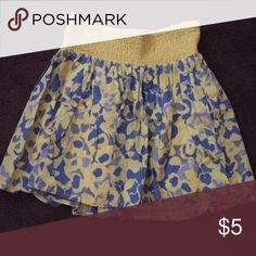 Blue and yellow floral skirt Old Navy yellow/blue floral skirt Old Navy Skirts Mini