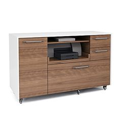BDI Format Credenza (behind chairs nears sales wall?)