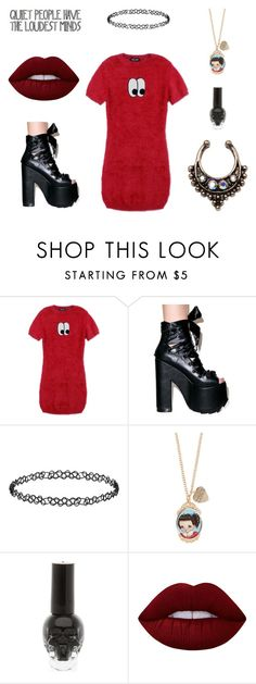 """Random Outfit I Would Wear If I Could But I Don't Have The Money"" by kimberly-pera ❤ liked on Polyvore featuring Lazy Oaf, Y.R.U., Dorothy Perkins, Lime Crime and New Look"