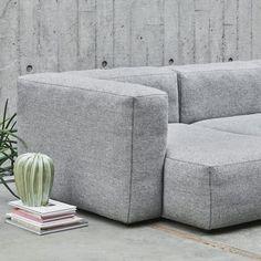MAGS SOFA SOFT, con cuciture invertito, unità modulari (versione Tessuti): creare il proprio sofa, HAY