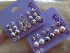 Claire S Back Pierced Stud Fashion Earrings Ebay