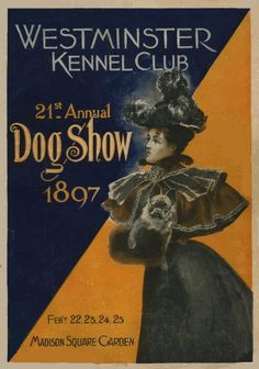 1897 Westminster Dog Show Catalog Cover with French Bulldog