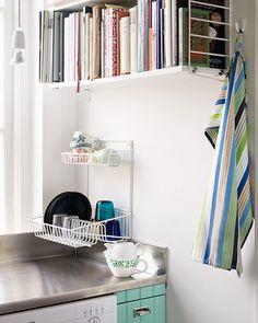 escorredor de pratos na parede