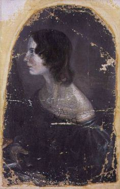 Portrait of Emily Brontë painted by her brother, Branwell Brontë.