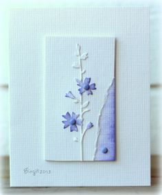 simple torn edge and some color add visual interest to this gorgeous card panel
