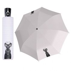 Doppler Magic Fiber LADY CAT plně automatický deštník s kočkou Barva Růžová Women's Umbrellas, Ladies Umbrella, Fiber, Magic, Cats, Gatos, Low Fiber Foods, Cat, Kitty