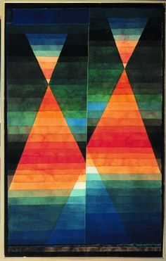 Title   : Twin Tents    Artist  : Paul Klee    Year   : 1923    Type   : Aquarel on paper    Size    : 50,6 x 31,8 cm.    Location: Angela Rosengart Collection, Luzern
