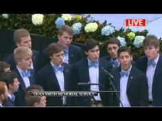 "The Clef Hangers sing ""Amazing Grace"" to honor Dean Smith at his memorial in March 2015."