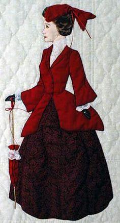 "#5 ""Gentlewomen Bonnet Girls Relatives & Friends"" Claudette. Beautiful quilting and appliqué."