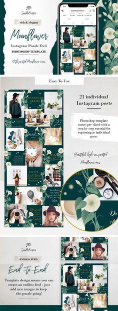 Instagram Grid, Instagram Frame, Free Instagram, Social Media Branding, Visual Identity, Photo Collage Free, Green Marketing, Earthy Style, Blogger Lifestyle