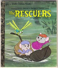 1977 - Vintage Disney Little Golden Book- THE RESCUERS- read this to my children