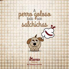 A perro goloso todo son salchichas #frases #RefranCaninoKucoo