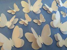 wedding butterflies wall butterflies white by ScrapStarz Butterfly Mobile, Butterfly Template, Leaf Template, Butterfly Wedding, Butterfly Decorations, White Butterfly, Flower Template, Butterfly Flowers, Butterfly Wall