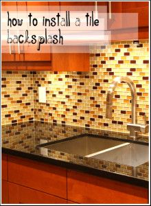 How to install a tile backsplash - I love the look of this.