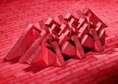 Architectural Sculptures Made from Gum Sticks  Between sculpture architecture and food art New-Yorker artist Sam Kaplan imagined little sculptures from colorful gum sticks. His graphic compositions mimics the shapes of well-known building sometimes like for instance his tribute to the Muralla Roja.         #xemtvhay