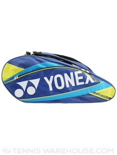 Yonex Pro Series 9 Pack Tennis Bag in Blue & Yellow